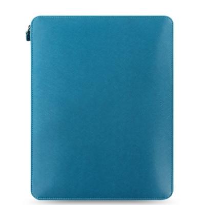 Saffiano A4 Zip Folio Aquamarine