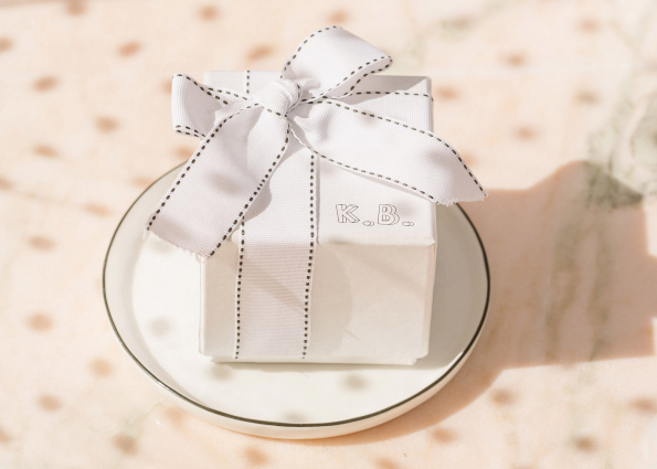 MONOGRAM BOX WITH BOW